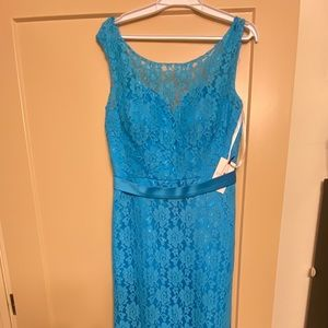 Marine blue lace dress